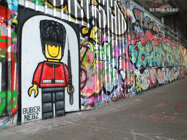 LEGO Queen's Guard down Leake Street London